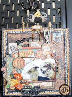 "*Graphic 45* Steampunk Spells ""Wicked Love"" Layout - Scrapbook.com"