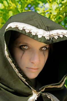 READY TO SHIP  mantle cloak unisex dark green lace Fantasy