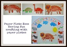 Paper Plate Zoo #kids #craft
