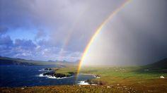 Rainbow Over Ballyferriter Bay, County Kerry, Ireland