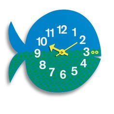 Vitra Fernando the Fish Zoo Clock: The zoo timers (1965) by George Nelson – wall clocks by Vitra in the form of colourfully rendered personalities from the animal kingdom.