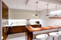 Mieszkanie w Poznaniu - Średnia otwarta kuchnia w kształcie litery l w aneksie z wyspą, styl nowoczesny - zdjęcie od Zastol.pl