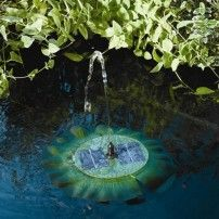 Aerate and accent your garden pond, birdbath, or other backyard water feature with the Smart Solar Floating Solar Lily Fountain . Backyard Water Feature, Ponds Backyard, Outdoor Waterfall Fountain, Floating Garden, Garden Fountains, Solar Fountains, Outdoor Fountains, Smart Garden, Solar Installation