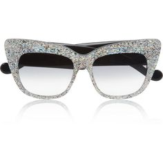 Anna-Karin Karlsson Alice Goes to Cannes cat eye glittered-acetate sunglasses found on Polyvore
