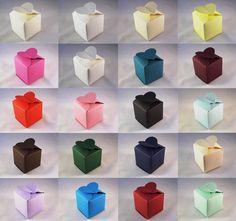 Heart Top Wedding Favour Boxes - Choose Colour - Choose QTY - SC10. 10, 50, 100