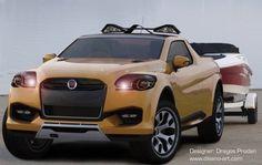 Fiat Sentiero Concept Study: Pick Up Compacto Maserati, Ferrari, Alfa Romeo, Fiat, Concept Cars, Dodge, Vehicles, Study, Pickup Trucks