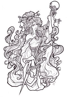 pop culture art nouveau coloring pages for adults - Google Search