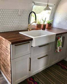 Airstream Kitchen - Vintage Airstream Renovation