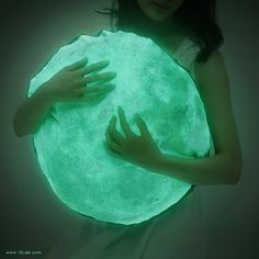 Moonlight hug pillow /M-size, NOCTURN BY MOONLIGHT ( glow in the dark moon pillow )