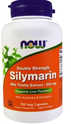 Now Foods Double Streng Silymarin Milk Thistle Extract 300 mg 100 Veggie Caps #NOWFoods