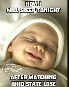Babies smile in their sleep because they're listening to the whispering of angels. U Of M Football, Michigan Wolverines Football, Football Memes, Lsu, College Football, Football Crafts, Barney Miller, Michigan Go Blue, Detroit Sports