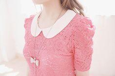 Lace dress + bow