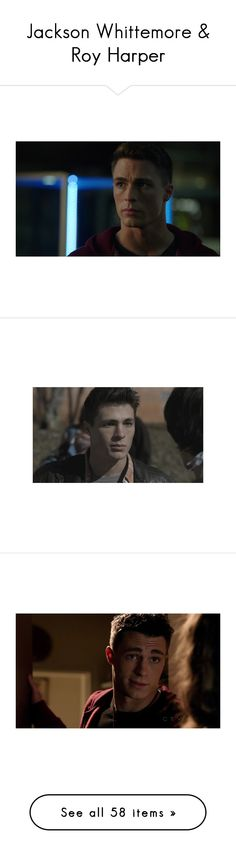 """""""Jackson Whittemore & Roy Harper"""" by worralldemon ❤ liked on Polyvore featuring home, kitchen & dining, home decor, teen wolf, colton haynes, colton and pictures"""