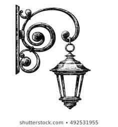 Art Drawings Sketches, Cute Drawings, Thema Paris, Street Lamp, Watercolor Art, Canvas Art, Wall Art, Painting, Street Lights