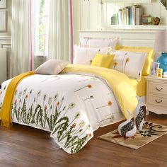 Us 60 0 Beach Themed Bedding Yellow Comforter Sets Bed Sheets Cotton Comforters Design Your Own Summer In From Home