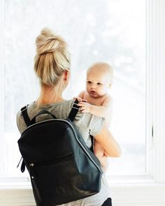 """A baby will make love stronger, days shorter, nights longer, bankroll smaller, home happier, clothes shabbier, the past forgotten and the future worth living for"". . . How cute is this diaper bag from @pacapod ! It is one of my favorites as it has little bags on the inside as well to keep things in and separated. So you can stay super organized and as a mom of 5, I need all the help I can get on being organized! ( @ourdarlingchaos via @latermedia )"