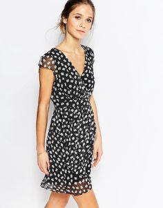 Traffic People Silk Whisper Dress In Teacup Print