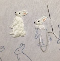 Handmade embroidery from Japan.