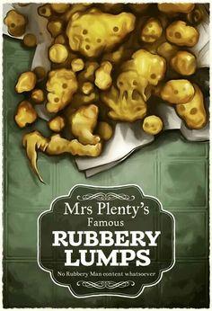 plenty's famous rubbery lumps (no rubbery man content whatsoever).