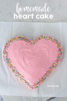 How to make a homemade heart shaped cake for $6!