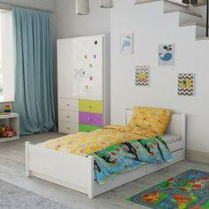 Dětské povlečení do postýlky žluté modré krtek krteček kreslené zvířátka Hello Kitty, Toddler Bed, Furniture, Design, Home Decor, Products, Child Bed, Decoration Home, Room Decor