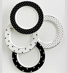 DIY Kate Spade Polka Dot Plates