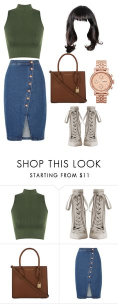"""""""Untitled #218"""" by alejomarianne on Polyvore featuring WearAll, Zimmermann, MICHAEL Michael Kors, Madewell and FOSSIL"""