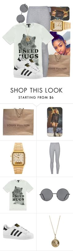 """Shorty Swing My Way ~ KP & Envyi"" by aniahrae ❤ liked on Polyvore featuring Louis Vuitton, American Apparel, NIKE, Forever 21, adidas Originals and Bianca Pratt"
