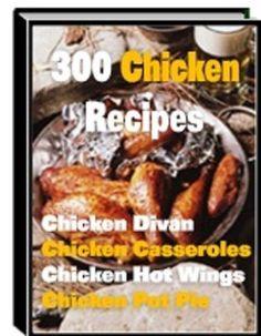 '300  Chicken  Recipes' '   book---CD