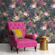 Our take on the 'Dutch Masters' moody floral look. Ava Marika is a dark, expressive floral originating from Lancashire with rouge red and blush pink flowers SHOP NOW Brick Effect Wallpaper, Bright Wallpaper, Orange Wallpaper, Wood Wallpaper, Wallpaper Samples, Wallpaper Roll, Wallpaper Ideas, Dandelion Wallpaper, Magnolia Wallpaper