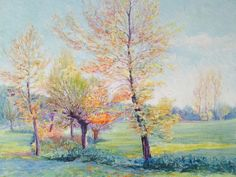 French oil painting. Spring.country by Albanegalery on Etsy