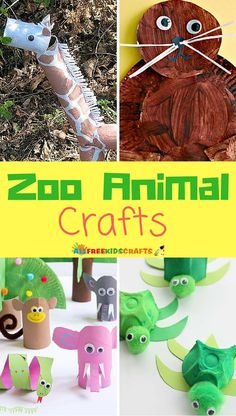 18 Zoo Animal Crafts for Kids | Have the kids make these adorable animal crafts after your trip to the zoo!