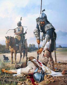 Battle of the Catalaunian Fields 451 A.D. - by José Daniel Cabrera Peña