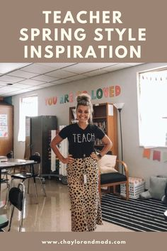 Are you looking for some fresh ideas for spring teacher outfits for 2021? Check out new ideas to wear those teacher tees, faux leather leggings, blazers and more!