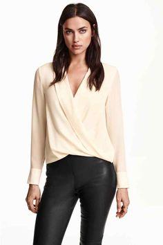 Jedwabna bluzka kopertowa   H&M