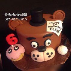 Five Nights at Freddy's Themed Cake by #msmarlene313 #3134631459 #fnaf #fivenightsatfreddys #fnafcake #freddy #bonnie #foxyfnaf #chicafnaf #jumpscares #cakequeenmarlene #cakelady313 #customcakesdetroit #detroitscakelady #detroitcustomcakes #designercakesdetroit #detroitcakes #madeindetroit #313 #msmarlene313