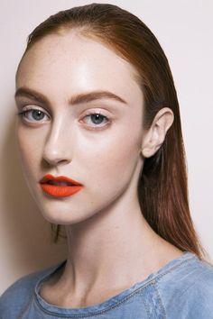 #Model #Makeup #Orange #Lipstick #Beauty #Spring #Style #Fashion #BiographyInspiration