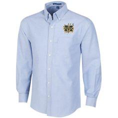 Michigan Wolverines Splatter Logo Men's Long Sleeve Oxford Shirt