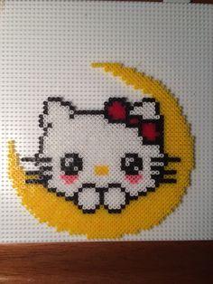 Hello Kitty  hama mini beads by Camilla Merstrand