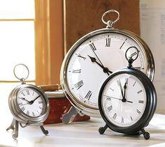 Pocket Watch Clock #potterybarn - medium size in oil rubbed bronze for master bedroom