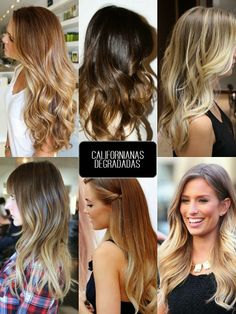 CALIFORNIANAS CONTINÚAN EN TENDENCIA EN EL 2014 / Californianas degradadas | The Glambition #ombre #hair