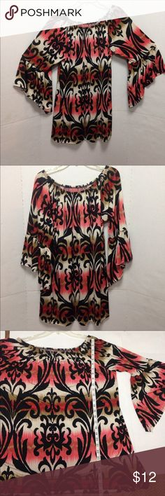 3X (fits like 2X) Bright colorful Boho Tunic 3X (fits like 2X) EUC Bright colorful Boho Tunic in super soft polyester. Looks wonderful with leggings Tops Tunics