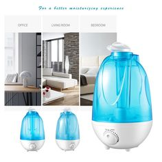 AUNA 3 Speeds Handheld Portable Misting Fan,USB Mini Beauty Replenishment Fan with Personal Cooling Humidifier Rechargeable Silent Fan Blue