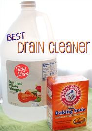 DIY Drain Cleaner - Unclog those drains! I love using this. You can also clean your toilets with both of these products.
