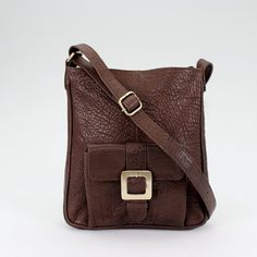 Handcrafted from beautiful thick and supple leather, this practical and stylish cross body bag is the perfect everday bag and is large enough to