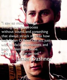 james dashner on dylan o brien in maze runner // dashner army