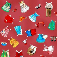 FaBriC PAPER DOLL School House Clothes 804-10 by siblingarts