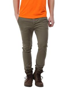 Breakbounce Men Vector Khaki Skinny Fit Chinos