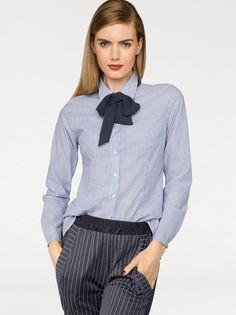 Dámská elegantní košile RICK CARDONA BY HEINE - bílá-modrá