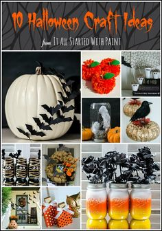 Halloween Craft Ideas - It All Started With Paint
